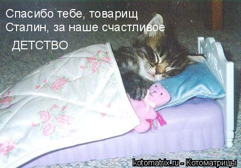 Котоматрица: Спасибо тебе, товарищ Сталин, за наше счастливое детство
