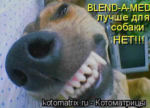 Котоматрица: BLEND-A-MED лучше для собаки НЕТ!!!