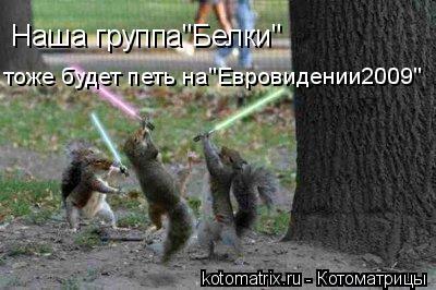 """Котоматрица: Наша группа""""Белки"""" тоже будет петь на""""Евровидении2009"""""""