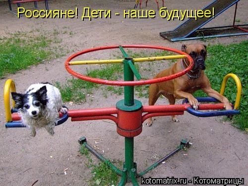 Котоматрица: Россияне! Дети - наше будущее!