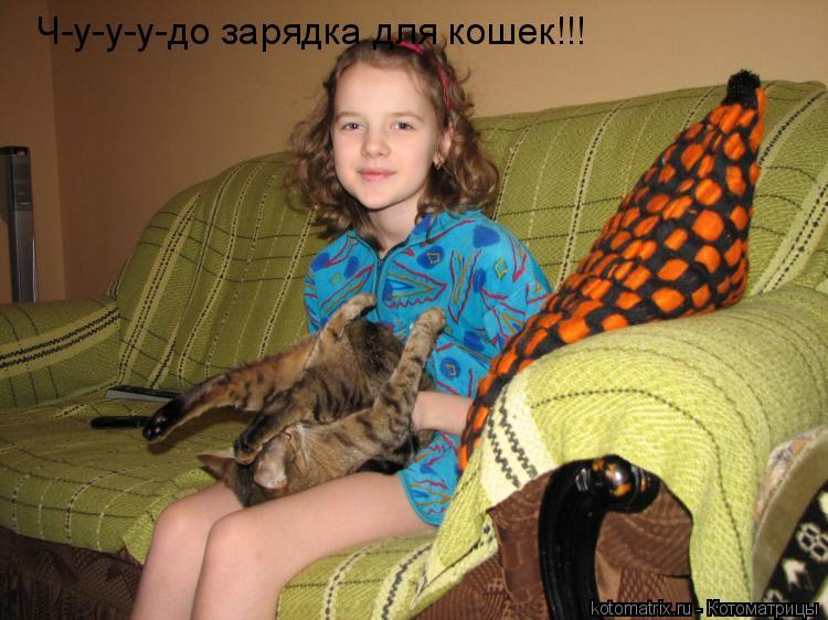 Котоматрица: Ч-у-у-у-до зарядка для кошек!!!