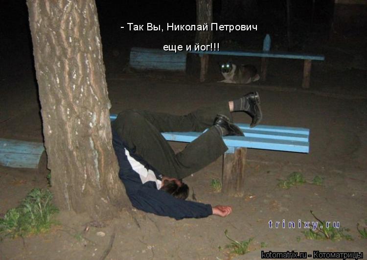 Котоматрица: - Так Вы, Николай Петрович еще и йог!!!