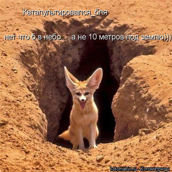 Котоматрица: Катапультировался_бля нет что б в небо.....а не 10 метров под землю)))))