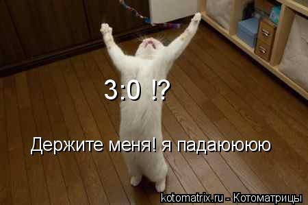 Котоматрица: Держите меня! я падаюююю 3:0 !?