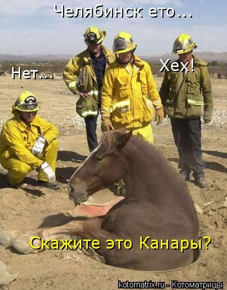 Котоматрица: Скажите это Канары? Нет... Челябинск ето... Хех!