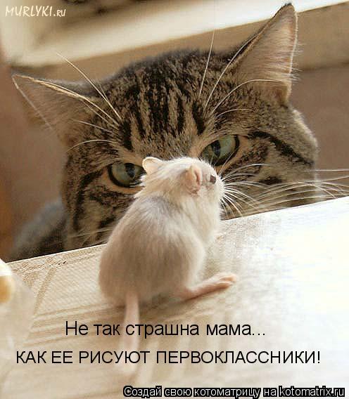 Котоматрица: Не так страшна мама... КАК ЕЕ РИСУЮТ ПЕРВОКЛАССНИКИ!