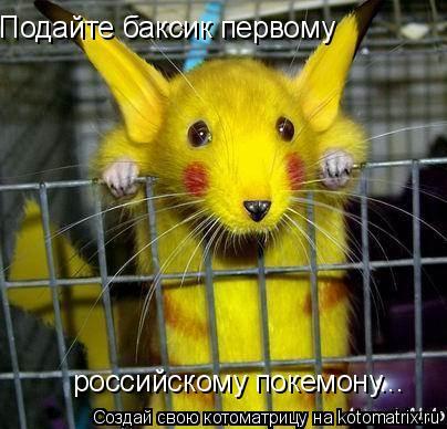 Котоматрица: Подайте баксик первому российскому покемону...