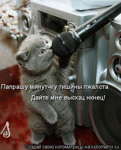 Котоматрица: Папрашу минутчку тишины пжалста Дайте мне выскзц нкнец!