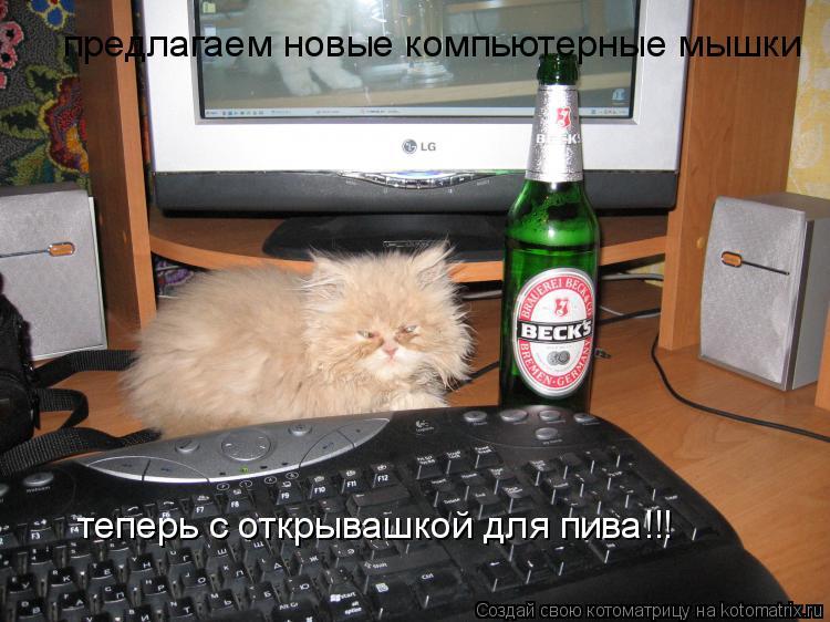 Котоматрица: предлагаем новые компьютерные мышки теперь с открывашкой для пива!!!