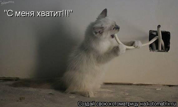 """Котоматрица: """"С меня хватит!!!"""""""