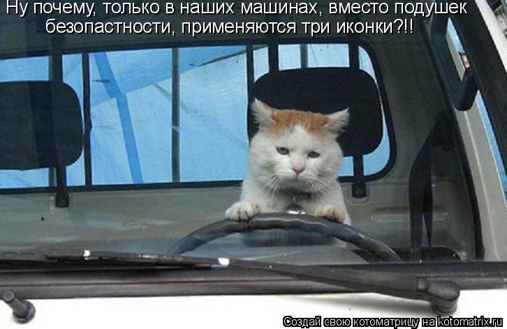 Котоматрица: безопастности, применяются три иконки?!! Ну почему, только в наших машинах, вместо подушек
