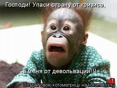 Котоматрица: Господи! Упаси страну от кризиса, а меня от девольвации!!!