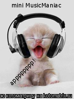 Котоматрица: mini MusicManiac арррррррр!