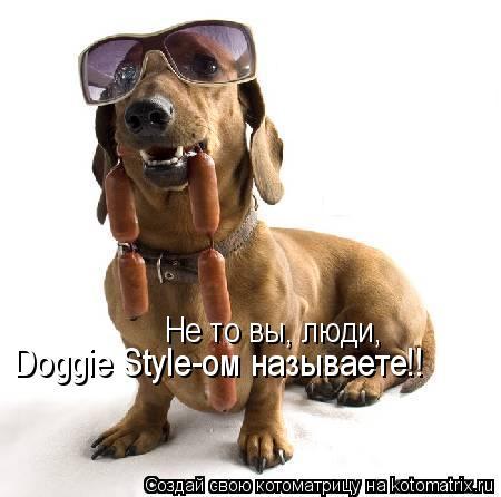 Котоматрица: Не то вы, люди, Doggie Style-ом называете!!