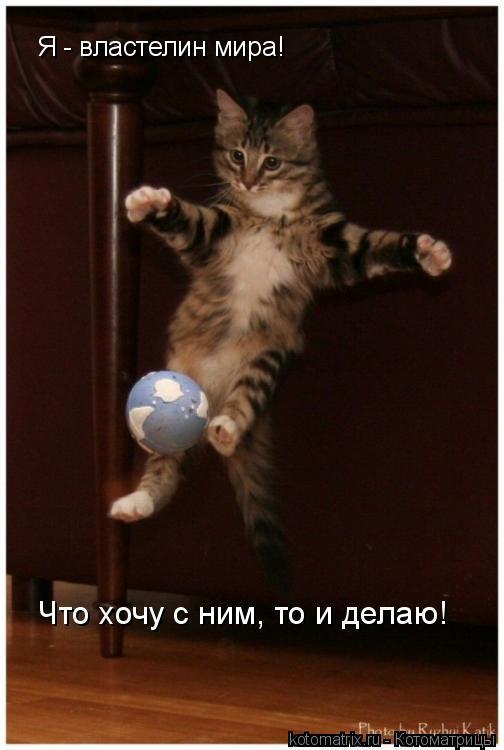 Котоматрица: Я - властелин мира! Что хочу с ним, то и делаю!