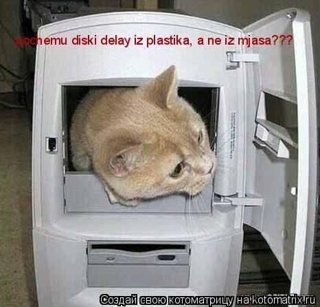 Котоматрица: pochemu diski delay iz plastika, a ne iz mjasa???