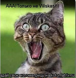 Котоматрица: ААА!Только не Wiskas!!! ААА!Только не Wiskas!!!
