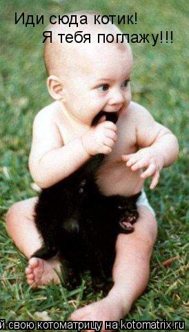 Котоматрица: Иди сюда котик! Я тебя поглажу!!!