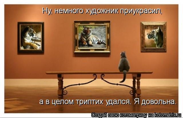 Котоматрица: Ну, немного художник приукрасил, а в целом триптих удался. Я довольна.