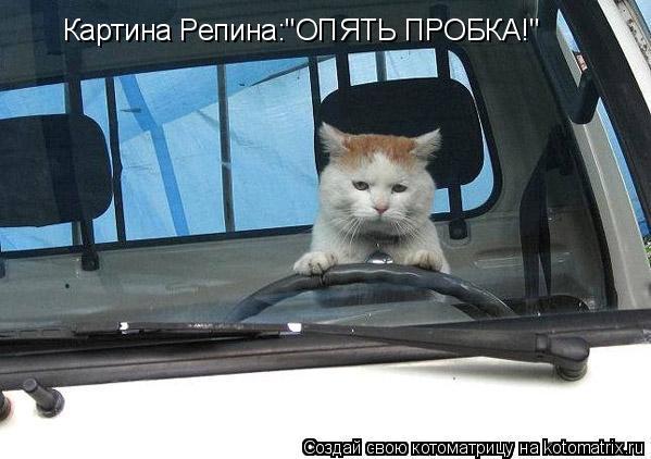 "Котоматрица: Картина Репина:""ОПЯТЬ ПРОБКА!"""