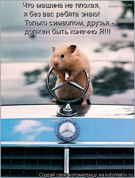Котоматрица: Что машина не плохая, я без вас ребята знаю! Только символом, друзья - должен быть конечно Я!!!