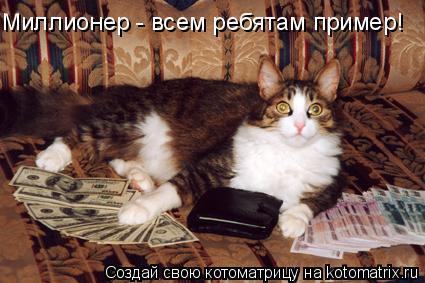Котоматрица: Миллионер - всем ребятам пример!