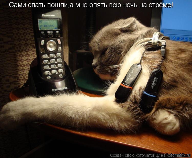 Котоматрица: Сами спать пошли,а мне опять всю ночь на стрёме!