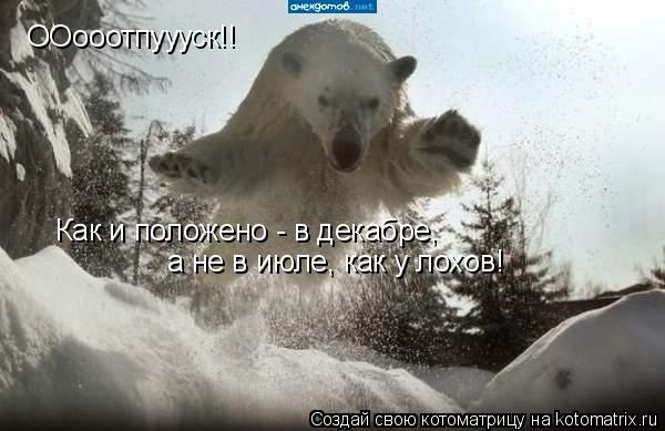 Котоматрица: ООооотпуууск!! Как и положено - в декабре, а не в июле, как у лохов!