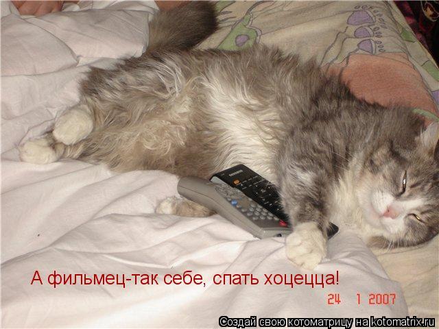 Котоматрица: А фильмец-так себе, спать хоцецца!