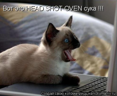 Котоматрица: Вот это HEAD SHOT OVEN сука !!!
