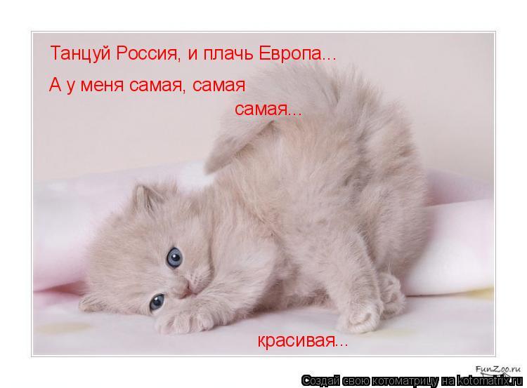Котоматрица: Танцуй Россия, и плачь Европа... А у меня самая, самая красивая ... самая...