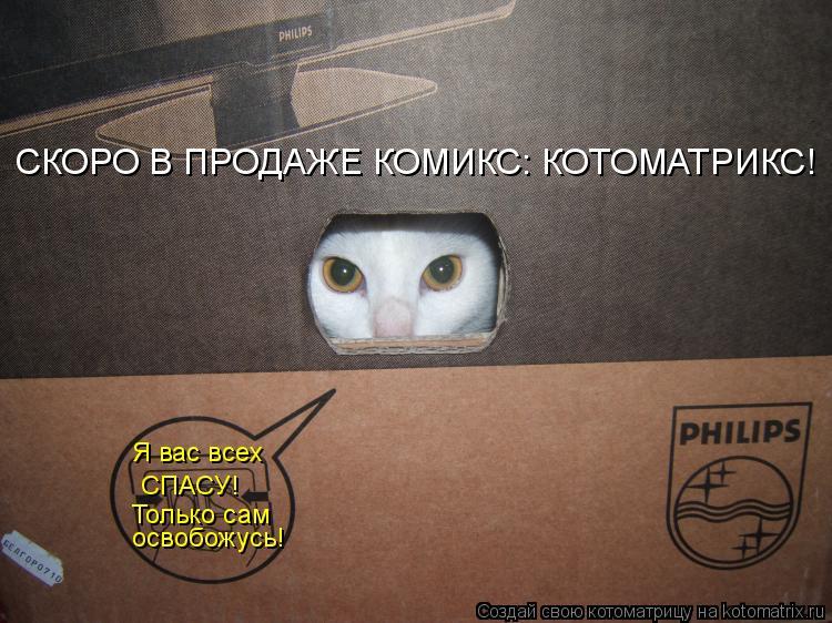 Котоматрица: Я вас всех СПАСУ! Только сам освобожусь! СКОРО В ПРОДАЖЕ КОМИКС: КОТОМАТРИКС!