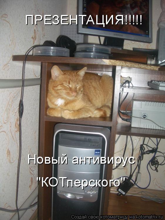 """Котоматрица: ПРЕЗЕНТАЦИЯ!!!!! Новый антивирус  """"КОТперского"""""""