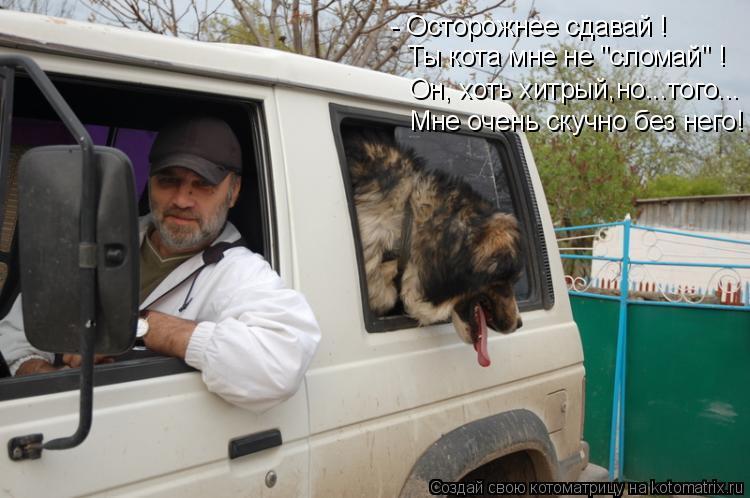 """Котоматрица: - Осторожнее сдавай ! Ты кота мне не """"сломай"""" ! Он, хоть хитрый,но...того... Мне очень скучно без него!"""