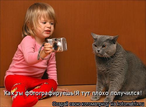 Котоматрица: Как ты фотографируешь!Я тут плохо получился!