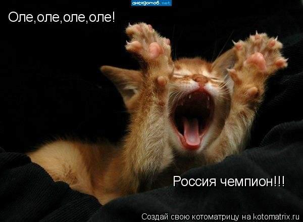 Котоматрица: Оле,оле,оле,оле! Россия чемпион!!!