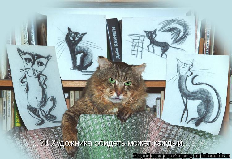 Котоматрица: ...?!! Художника обидеть может каждый.