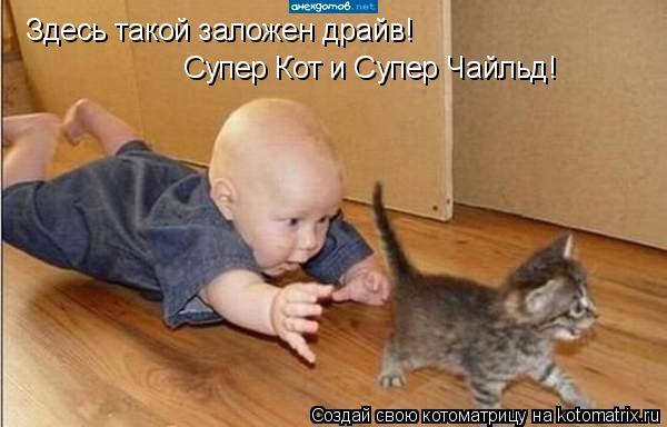 Котоматрица: Здесь такой заложен драйв! Супер Кот и Супер Чайльд!