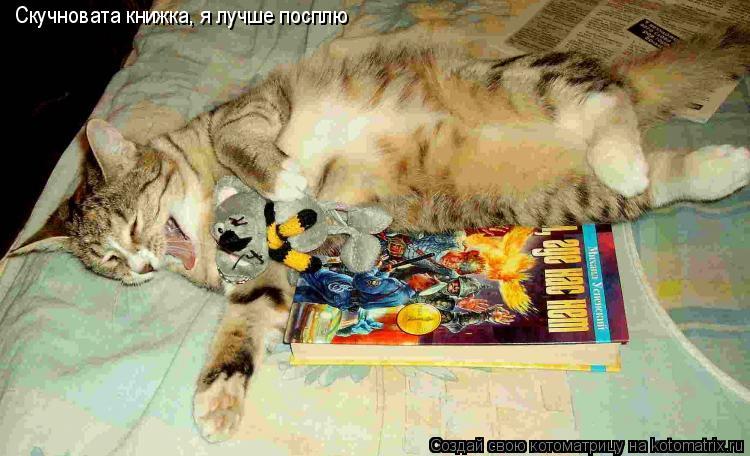 Котоматрица: Cкучновата книжка, я лучше посплю
