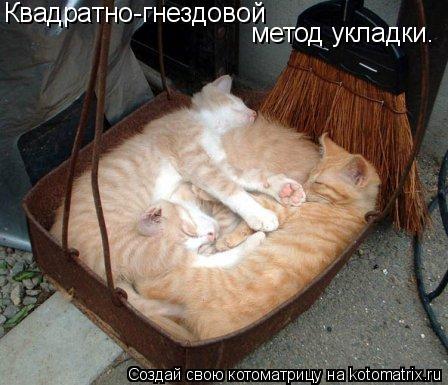 Котоматрица: Квадратно-гнездовой  метод укладки.
