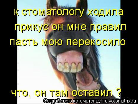 Котоматрица: к стоматологу ходила прикус он мне правил пасть мою перекосило что, он там оставил ?