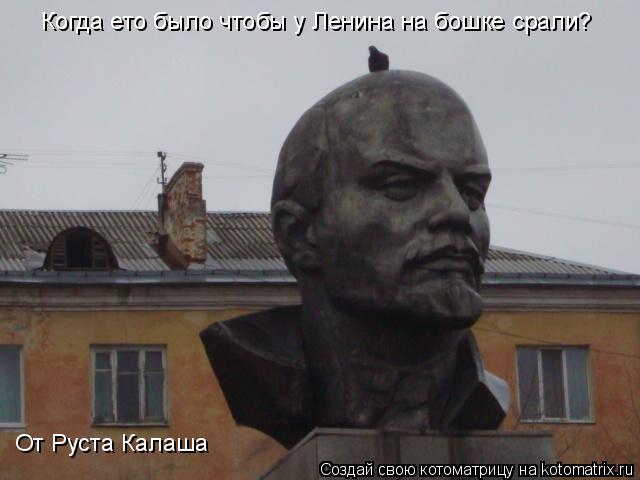 Котоматрица: Когда ето было чтобы у Ленина на бошке срали? От Руста Калаша