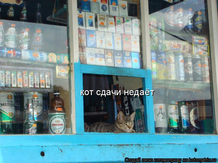 Котоматрица: кот сдачи недаёт
