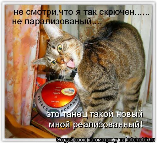 Котоматрица: не смотри,что я так скрючен не парализованый.... это танец такой новый мной реализованный! ......