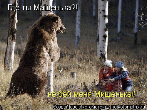 """Котоматрица: Где ты Машенька?! не бей меня Мишенька!"""""""