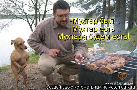 Котоматрица: -Мухтар был... Мухтар есть... Мухтара будем есть!