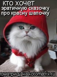 Котоматрица: кто хочет эратичную сказочку про красну шапочку
