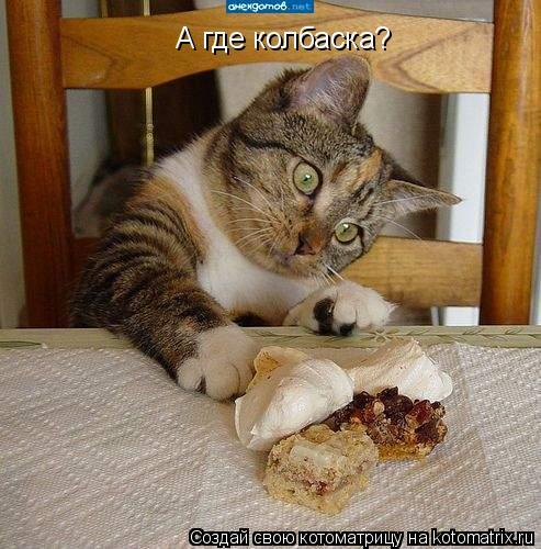 Котоматрица: А где колбаска?