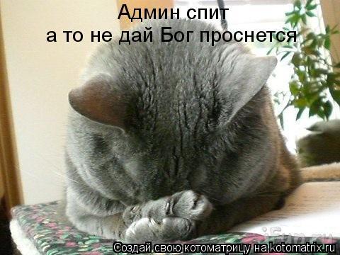 Котоматрица: Админ спит а то не дай Бог проснется