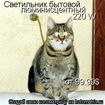 Котоматрица: Светильник бытовой люминисцентный 220 W от 99.99$